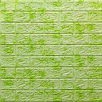 3д панель стеновой декоративный кирпич Зеленый Мрамор (самоклеющиеся 3d панели для стен оригинал) 700x770x5 мм
