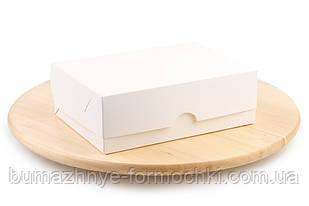 Універсальна коробка для десертів, біла, 210х150х70 мм (10 штук)