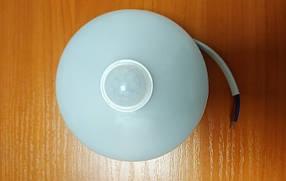 Светодиодный cветильник для ЖКХ с датчиком движения Round sensor 9W круглый 6000К  IP65 Код.59808