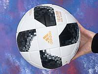 Футбольный мяч для игры в футбол спортивный игровой  Adidas Telstar адидас телстар размер 5