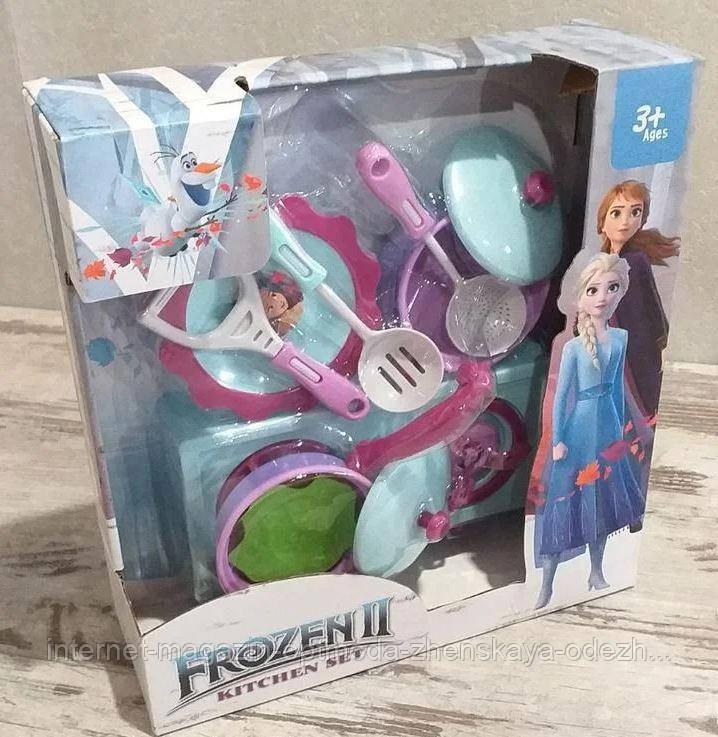 Прекрасный детский набор «Кухня FROZEN», пластик | Детский подарочный набор для девочек