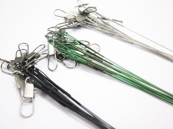 Поводок рыболовный, 15см, зеленый