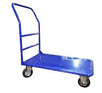 Тележка грузовая ручная складская платформенная УСИЛЕННАЯ 800х1250 350кг колеса: 160мм