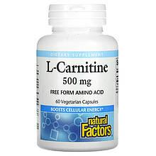 "L-карнітин Natural Factors ""L-Carnitine"" 500 мг (60 капсул)"