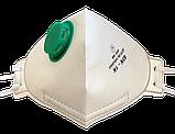 Полумаска фильтрующая (респиратор) БУК 1K, с клапаном FFP1  от 10 штук, фото 3