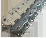 MS 35 шарнирные винтовые механические соединители для стыковки конвейерных лент толщиной от 4,5 до 10 мм
