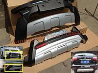 Накладка на бампер передняя и задняя на BYD S6