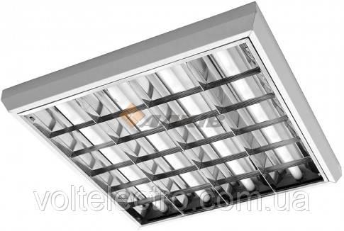"""Светильник растровый накладной  """"Вариант"""" 4х10 под LED лампу"""