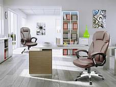 Кожаное офисное кресло Eago EG-222 коричневое, фото 3