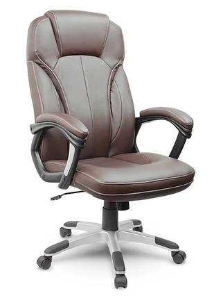 Кожаное офисное кресло Eago EG-222 коричневое, фото 2