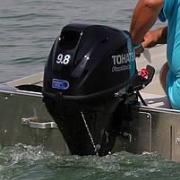 Двигун для човна Tohatsu, 9.8 лс, 4 тактний, MFS9.8B S- підвісний двигун для яхт і рибальських човнів, фото 2