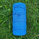 Еко шнур бавовняний крученный 4мм №43 Світло-синій, фото 3