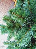 """Сосна штучна густа, пишна """"Смарагдово-зелена"""" в снігу, 180 см, з підставкою, в коробці 031-0007, фото 3"""