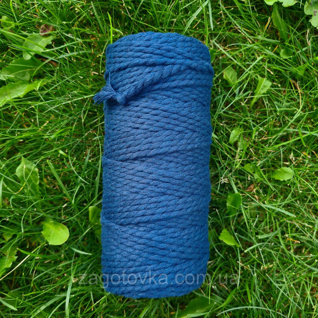 Эко шнур хлопковый крученный 4мм  №19 Лагуна