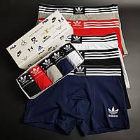 5 шт В НАБОРЕ Мужских БОКСЕРОВ Adidas/ Адидас, Подарочной Коробке XL