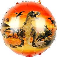 """Фольгированный шарик """"Ера динозавров"""" Оранжевый, 45*45 см( ВЗ)"""
