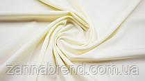 Ткань креп однотонный нежно-желтого цвета