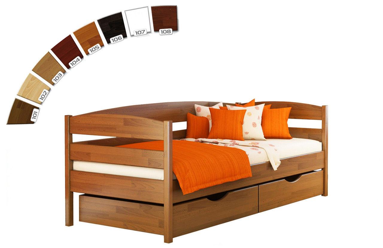 Дитяче ліжко з натуральної деревини буку Нота Плюс Естелла