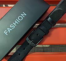 Мужской кожаный ремень Levi's черного цвета