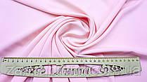Ткань креп однотонный светло-розового цвета