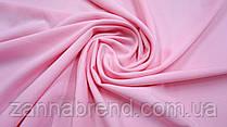 Ткань креп однотонный розового цвета