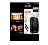 Мобільна колонка SoundMax SM500 5х2 дюйма 2 мікрофона 2000Вт   Портативна акустика з підсвічуванням автономна, фото 4