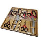 Ножницы портновские Golden Phoenix для кройки и шитья Набор закройных ножниц TITANIUM, фото 3