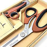 Ножницы портновские Golden Phoenix для кройки и шитья Набор закройных ножниц TITANIUM, фото 8