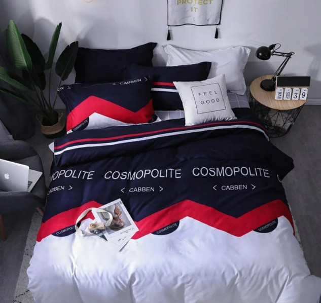 Комплект постельного белья Космополит темный Бязь  GOLD 100% хлопок
