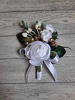Бутоньєрка для нареченого НОВИНКА 3 . Колір на фото- білий