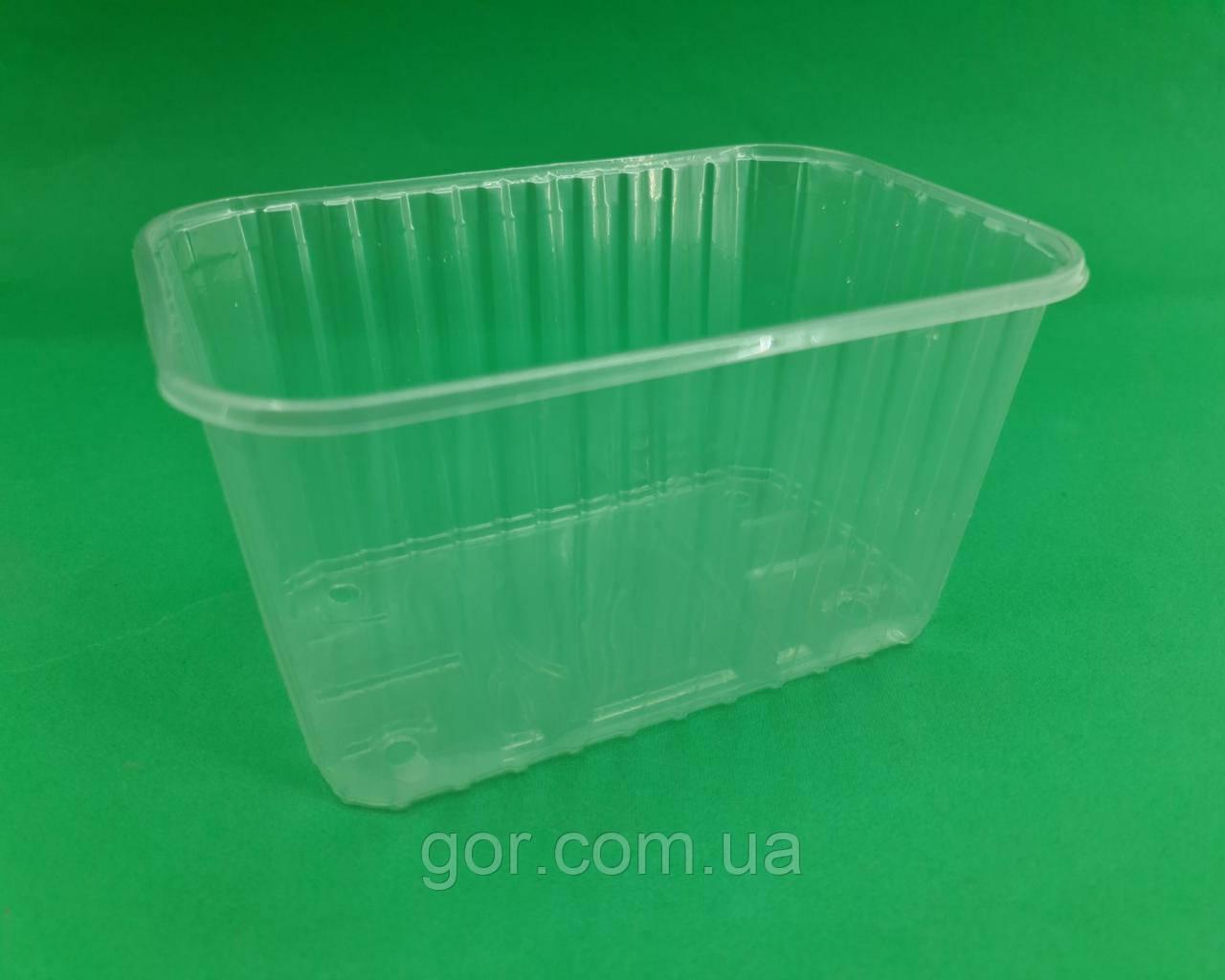 Лотки тара для ягод на 1кг F1005F (50 шт) пластиковая одноразовая прозрачная емкость пинетки для клубники