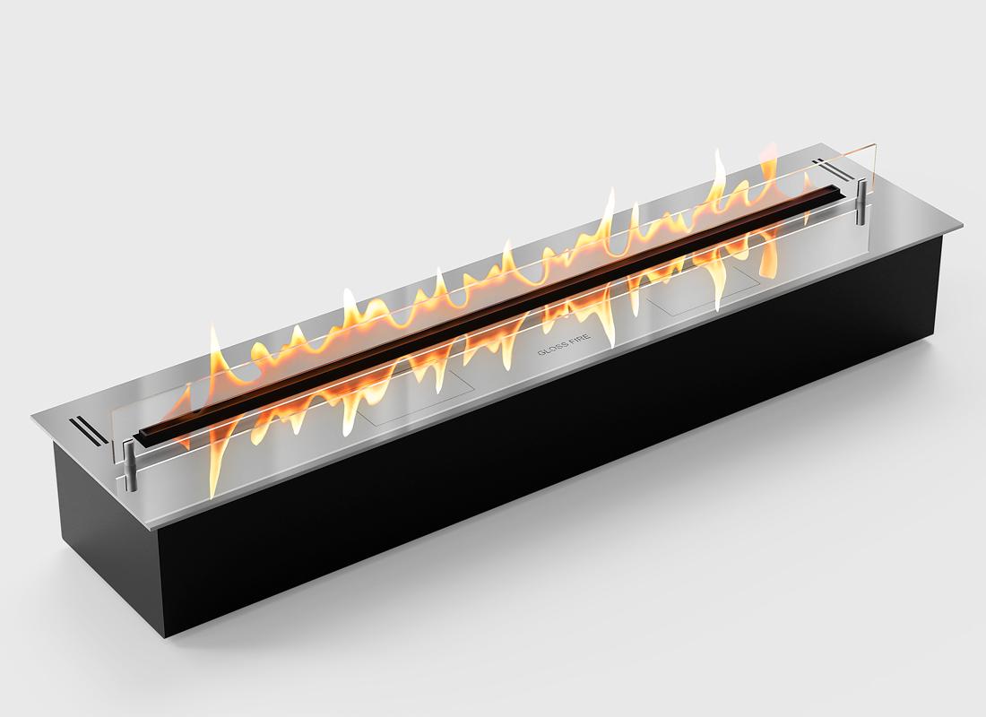 Биокамин автоматический GLOSS FIRE DALEX 800 - steel