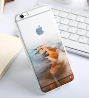 """Премиум силиконовый чехол """"Пустыня"""" для Iphone 6 Plus"""