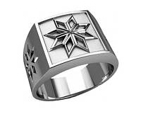 Кольцо серебряное  «Звезда Всемирья, звезда Родолада.  30230