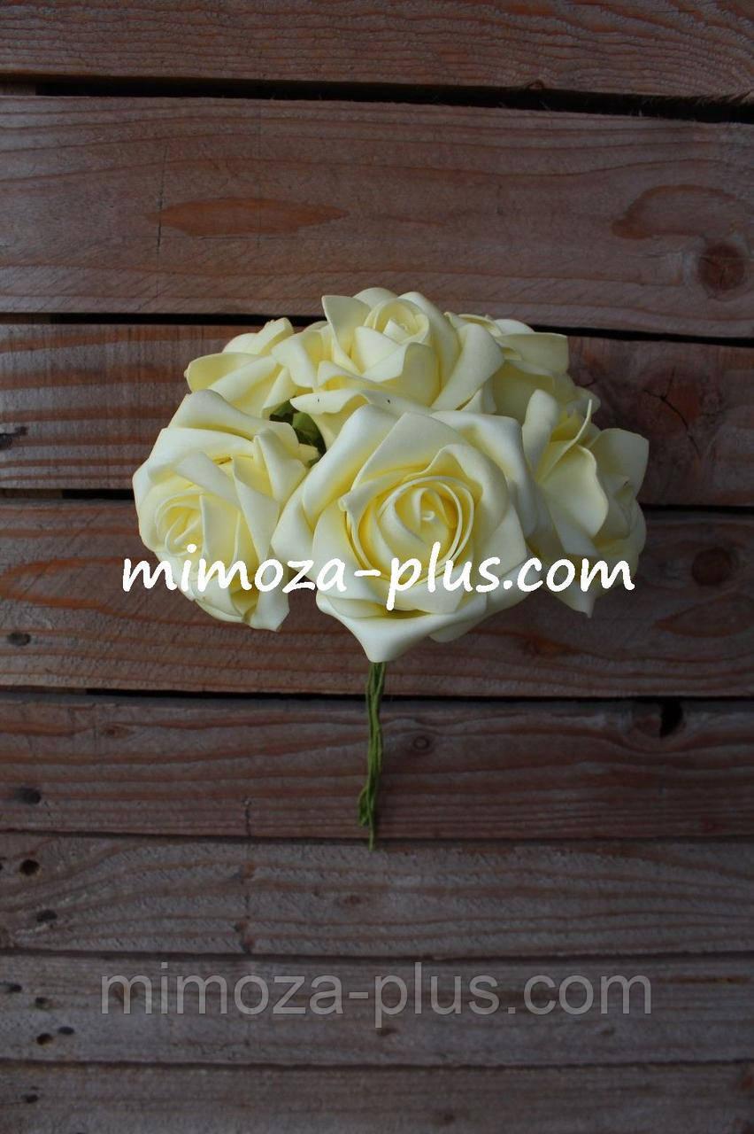 Штучні квіти - Роза пучок, 25 см