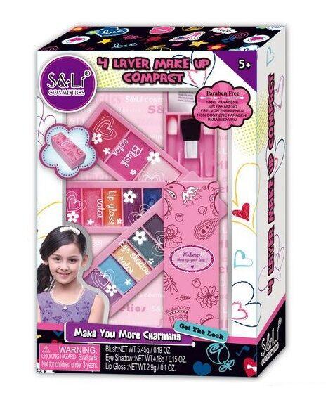 Детский набор косметики S 22293 А, тени, блеск, румяна - набор косметики для девочек