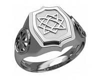 Кольцо серебряное Лада Богородица и Коловрат 30229