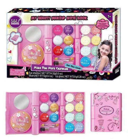 Детский набор косметики S 21925, тени, блеск, румяна, зеркало - набор косметики для девочек