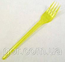 Вилка  «Super» желтая   Юнита (100 шт) одноразовая столовая пластиковая