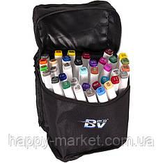 Набір двосторонніх маркерів BV800-36 кольорів для малювання (круглий+скошений.) квадратний у сумці