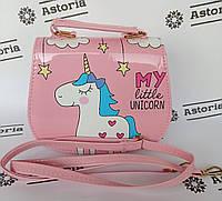 Детская стильная сумочка кросс-боди через плечо / Модная мини сумка для девочки / Детские сумки