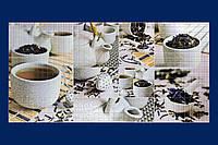Стінові ПАНЕЛІ з ПВХ для Кухні Декоративні Листові РЕГУЛ Мозаїка Чайна церемонія(957х480мм)155чц/541мк/539мк
