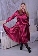 Праздничное платье на резинке батал