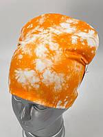 ОПТ. Детская трикотажная шапочка двойной колпак для девочки «Тай Дай 2», фото 1