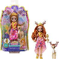 Кукла Энчантималс Королева Олень Давиана и питомец Грасси Royal Enchantimals Queen Daviana Doll & Grass