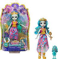 Кукла Энчантималс Королева Павлин Парадайз и питомец Рейнбоу Royal Enchantimals Queen Paradise & Rainbow Doll