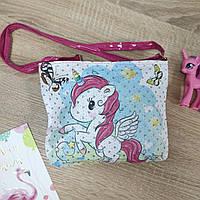 Лаковая сумка для девочки Единорог