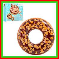 Надувной Круг Intex Пончик шоколад 114см Optmaster