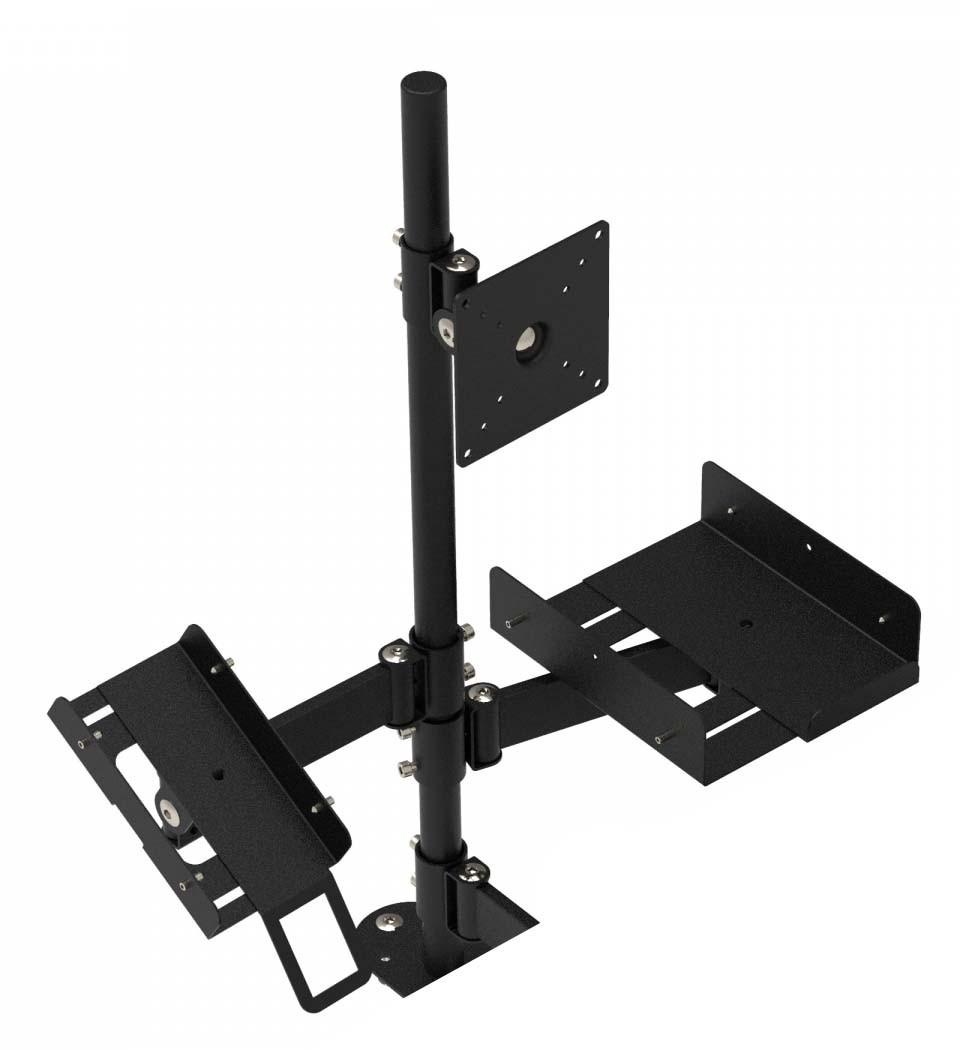 Эргономичная кассовая стойка для POS-оборудования (кронштейн банковского терминала, монитора, принтера)