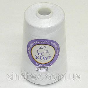 Армовані Kiwi (ківі) нитки 20/2 3000 ярдів, білі (339-Kiwi-005)